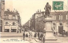 """Dépt 33 - BORDEAUX - Place Tourny Et Rue Fondaudège - Petit Plan Tramway - Éditeur : """"BR - 720"""" N° 149 - Bordeaux"""