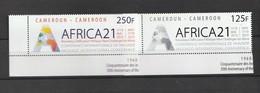 Cameroun - Cameroon 2010, Africa 21 2v Mnh - Cameroon (1960-...)