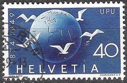"""Schweiz Suisse 1949: """"75 Jahre UPU"""" Zu 296 Mi 524 Yv 476 Globus & Tauben Mit Eck-o SCHLIEREN ?.?.49 (Zumstein CHF 12.00) - Suisse"""