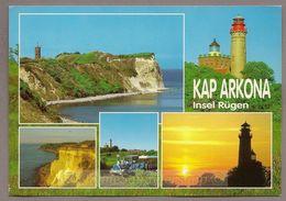 BRD -  AK:  Kap Arkona / Rügen / Leuchtturm, Küste, - Leuchttürme