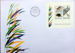 DENMARK 2003 Rare Insects   MInr.1338-40   Block 21    FDC  ( Lot  3973 ) - FDC