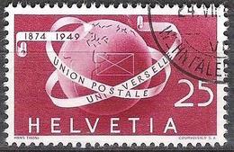 """Schweiz Suisse 1949: """"75 Jahre UPU"""" Zu 295 Mi 523 Yv 475 Globus Mit O ZÜRICH 24.VII.50 WEHNTALERSTR (Zumstein CHF 10.00) - Usati"""