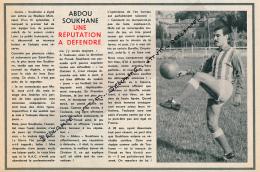 FOOTBALL : PHOTO, TOULOUSE F.C., ABDOU SOUKHANE, UNE REPUTATION A DEFENDRE, COUPURE REVUE (1964) - Autres