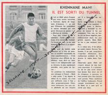 FOOTBALL : PHOTO, TOULOUSE F.C., KHENNANE MAHI, IL EST SORTI DU TUNNEL, COUPURE REVUE (1964) - Autres
