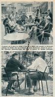 FOOTBALL : PHOTO, TOULOUSE F.C., JEAN DOUMENG, KADER FIROUD, PLACE DU VILLAGE DE NOE (Noé), COUPURE REVUE (1964) - Autres
