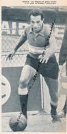 FOOTBALL : PHOTO, ABDERRAHAM MAHJOUB, RACING CLUB DE PARIS, FRANCO-MAROCAIN, COUPURE REVUE (1964) - Autres