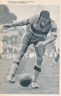 FOOTBALL : PHOTO, LARBI BEN BAREK, LE PELE FRANCAIS DE L'AVANT-GUERRE, FRANCO-MAROCAIN, COUPURE REVUE (1964) - Calcio