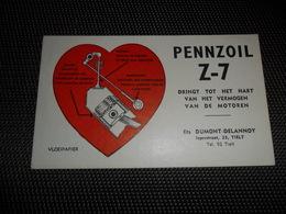 Buvard  Vloeipapier PENNZOIL Z - 7 Motor Oil  Olie  Dumont - Delannoy  Tielt ( Thielt ) - Gas, Garage, Oil