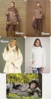 Pocket Calendar Russia - 2015 - 16 - 17  - 5 Pcs. -  Advertising - Woman - Clothing - Fur - Small : 2001-...