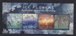 Australian Antarctic Territory  S 239b 2016 Ice Flowers Mini Sheet,Mint Never Hinged - Australian Antarctic Territory (AAT)
