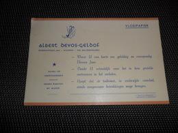 Buvard  Vloeipapier   Albert Devos - Geldof  Woumen ( Diksmuide ) - Food