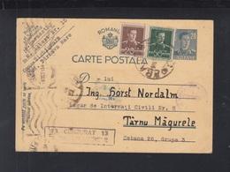 Rumänien Romania GSK Mit ZuF 28.9.1945 Sighisoara An Sachse Zivil-Internierte Lagar Nr. 8 Turnu Magurele - 1918-1948 Ferdinand, Carol II. & Mihai I.
