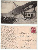 Suisse // Schweiz // Switzerland // Vaud  // Vallorbe, Travaux De La Gare, Pelle à Vapeur (carte Rare) - VD Vaud