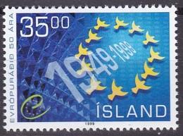 1999,  Island, 912,  50 Jahre Europarat.. MNH ** - Armenia