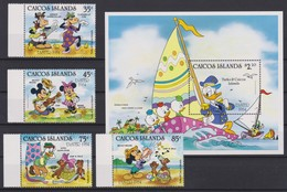 2128  WALT DISNEY  CAICOS ISLANDS  ( EASTER 1984 ) - Disney