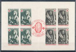 Carnet Croix Rouge 1973 Plié Et Oblitéré - Markenheftchen