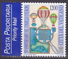 1999, Vatican, 1302,  50 Jahre Europarat.. MNH ** - Armenia