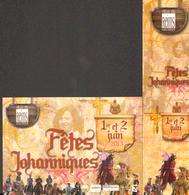 Duo (marque Page+carte) FETES JOHANIQUES 2013 - Marque-pages