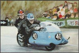 J Mathews - TT Speed - Two Wheel Beauties - Alternative Card Co Postcard - Motorbikes