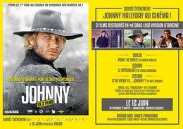 Flyer Johnny Hallyday - Soirée Spéciale Au Max Linder - Autres Collections