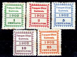 Guatemala-0168 - Servizio 1902 (+) Hinged - - Guatemala