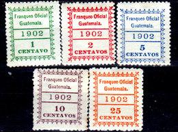 Guatemala-0169 - Servizio 1902 (+) Hinged - - Guatemala