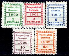 Guatemala-0170 - Servizio 1902 (+) Hinged - - Guatemala