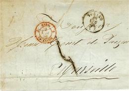 1856- Lettre De TORINO  Pour Marseille - Entrée 2 SARD. 2 BRIANCON  Rouge - Marcophilie (Lettres)