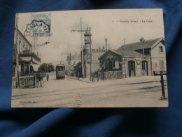 Gentilly  La Gare  Café, Tramway - Animée - Ed. Gautrot 3 - Circulée 1906 - R184 - Gentilly