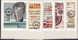 Faroe Islands 1981 Mi. 65-69 Maximum Cards Scrolles Complete Set ! - Färöer