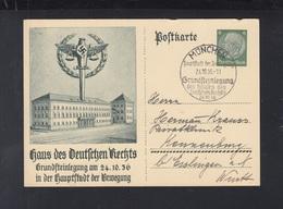 Dt. Reich GSK Haus Des Deutschen Rechts 1936 Gelaufen - Deutschland