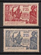 Madagascar - 1939 - N°Yv. 207 à 208 - Exposition De New York - Neuf Luxe ** / MNH / Postfrisch - Madagaskar (1889-1960)