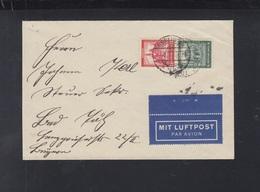 Dt. Reich Luftpostbrief Mit Nothilfe ZD - Deutschland