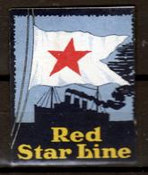 RED  STAR  LINE  LABEL - Erinofilia