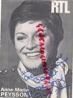 AUTOGRAPHE ANNE MARIE PEYSSON- RADIO RTL - CARTE PHOTO ALAIN CANU - Autografi