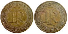 04017 GETTONE JETON TOKEN TRASPORTO TRAMWAY INDIANA, RICHMOND 1947 - Unclassified