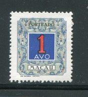 MACAO- Taxe Y&T N°56- Neuf Avec Charnière * - Macao
