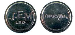 00081 GETTONE JETON TOKEN VENDING MACHINE J.E.M. LTD, EUROCOIN - United Kingdom