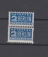 Notopfer Paar Mit Doppelzähnung Postfrisch - Bizone