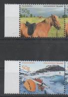 ICELAND, 2017, MNH, TOURIST STAMPS, VI, HORSES, GLACIERS, 2v - Other