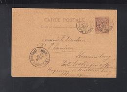 Monaco GSK 1892 Nach Esslingen - Ganzsachen
