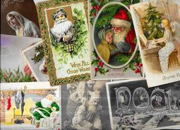 Lot 1326 De 10 CPA Noël Santa Claus Dont Père Noël Déstockage Pour Revendeurs Ou Collectionneurs - Cartoline