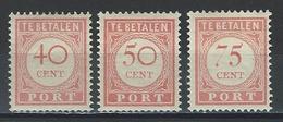 Niederländisch Indien NVPH 35-37, Mi P29-31 * - India Holandeses