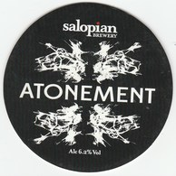 SALOPIAN BREWERY (HADNALL, ENGLAND) - ATONEMENT - KEG CLIP FRONT - Signs