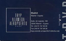 Tryp Alameda Aeropuerto Hotel Keycard - Madrid - Spain - Hotelkarten