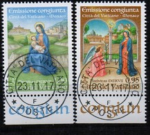 PIA  -  VATICANO - 2017 : Natale -  (Yv   1765-66) - Used Stamps