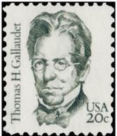 1983 USA Thomas Gallaudet Stamp Sc#1861 Famous Sign Language Deaf Disable Education - Handicaps
