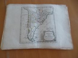 Carte Atlas Vagondy 1778 Gravée Par Dussy 40 X 29cm Mouillures Amérique Du Sud South America - Geographical Maps