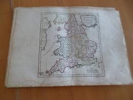 Carte Atlas Vagondy 1778 Gravée Par Dussy 40 X 29cm Mouillures Angleterre England - Geographical Maps