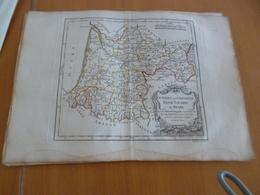 Carte Atlas Vagondy 1778 Gravée Par Dussy 40 X 29cm Mouillures France Guyenne Gascogne Bearn Basse Navarre - Geographical Maps